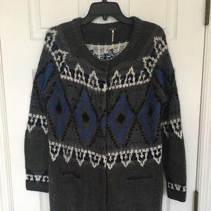 Free People knee length wool sweater